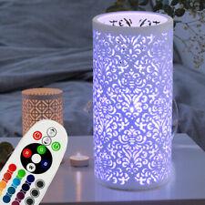 RGB LED Lampe de Table Nacht - Ess Chambre Décor Porcelaine Lampe Télécommande