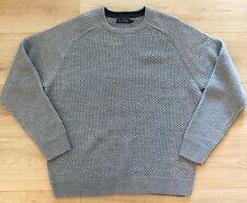 "JAMES PRINGLE Grey Waffle Textured Knit Warm Jumper L 46"" Chest Preppy"