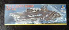 Italeri 522 U.S.S Kitty Hawk Aircraft Carrier Model Kit 1/720 Scale