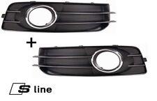 AUDI A3 8P 09-12 S Line Front Bumper Grille Fog Light Trim Bezel Set LEFT+RIGHT