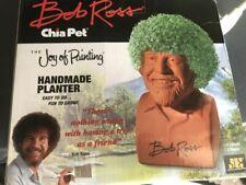 New Genuine Chia Pet Bob Ross Joy Of Painting Handmade Planter Fun
