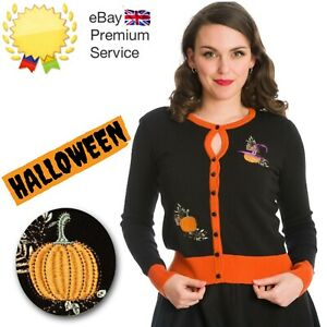 Banned Apparel Retro 50s Pumpkin Spice And All Things Nice Cardigan in Black