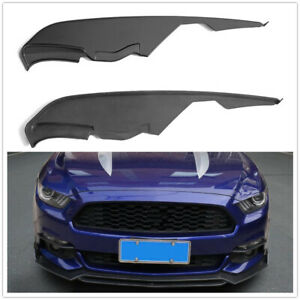 Fog Light Canard Splitters Trim Black For Ford Mustang MD Style 2015-2017 US