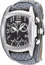 Invicta Mens Tonneau Dragon Lupah Swiss Quartz Chronograph Leather Strap Watch