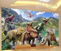 Tapete Fototapete LOCH IN DER WAND  Dinosaurier Stein Wand Tier Strand  11461 P4