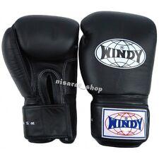 WINDY BOXING GLOVES BLACK BGVH 8,10,12,14,16,18,20 oz.SPARRING  MUAY THAI MMA