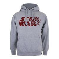 Star Wars Official Mens Clothing - Rebel Text Logo Print - Mens Hoodie - Grey