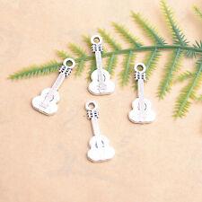 20Pcs Tibetan Silver Guitar Charm Bracelet Necklet Pendant Jewelry Finding DK43