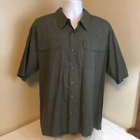 Wrangler Mens Vented Fly Fishing Shirt Gray 2XL XXL Short Sleeve Free Shipping!