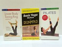 Lot of 3 Yoga Pilates Exercise VHS Video Tapes - Factory Sealed Gaiam Vintage