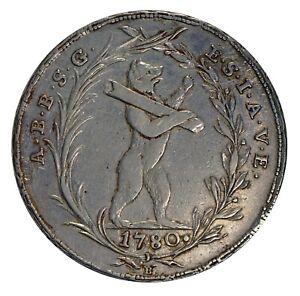 Canton St Gallen Switzerland Taler 1780