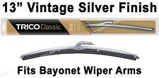 "Classic Wiper Blade 13"" Antique Vintage Styling Silver Finish Trico - 33-130"