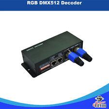 RGB DMX 512 DECODER LED Controller 3 canali DC12-24 V, 4A