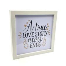 A True Love Story Never Ends DEL Light Up Manteau Plaque Love Cadeau ATH020-HS