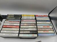 Lot of 30 Cassettes Rock Pop Classic Metal Soul