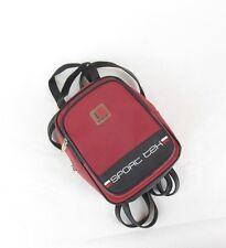 Vintage 90's Women's SPORT Tek Small Mini Nylon Red Black Backpack Purse Bag