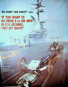 Big Daddy Don Garlits Fly Navy Brochure Wynn's Charger Drag Racing
