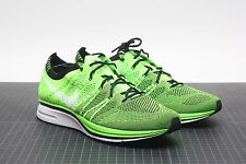 NIKE FLYKNIT TRAINER ELECTRIC GREEN/BLACK 532984-301 BRAND NEW AIR 11