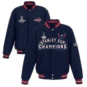Washington Capitals JH Design Stanley Cup Champions All-Wool Revers. Jacket