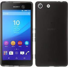 Coque en Silicone Sony Xperia M5 - transparent noir + films de protection