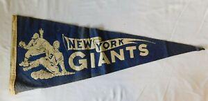 Rare 1950s NEW YORK GIANTS   Pennant Flag -  Baseball