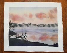 Original Lake Murray South Carolina Sailboat Dock Painting Landscape