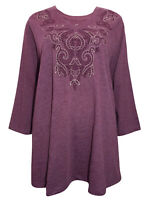Catherines tunic top blouse plus size 16/18 20/22 24/26 28/30 32/34 36/38 plum