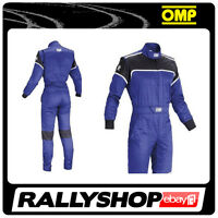 OMP Blast  Mechanic Suit  BLUE 58 Overalls Garage Workshop  RACE RALLY STOCK