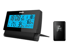 ATOMIC LCD ALARM CLOCK WITH INDOOR AND OUTDOOR TEMPERATURE AND HUMIDITY