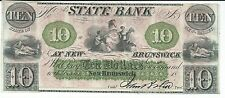 New Jersey New Brunswick State Bank $10 1844 one signature G62a Wait #1708