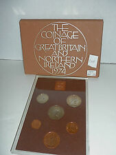 Coinage of Great Britain and Northern Ireland 1974 Proof Set (6 coins)