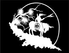 Native American Warrior Decal on Horseback Last Ride vinyl car window sticker