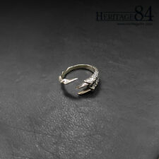 Sterling silver 925 Claw ring, dragon claw, tribal eagle claw ring, adjustable