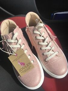 Joules Size 3 . Pink Sparkle Trainer Shoes . Girls 3 . RRP £35 . New .