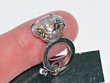 1 Pc. Miniature tiny little crystal engagement wedding Ring Pendant charm 22mm*