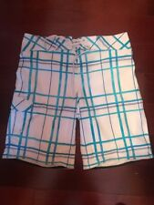 MOSSIMO SUPPLY CO. Men's Board Shorts swim surf beach White And Blue  Sz 34
