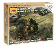 Zvezda 1/72 británico Ordnance QF 2PDR anti Tanque pistola con tripulación Z6169