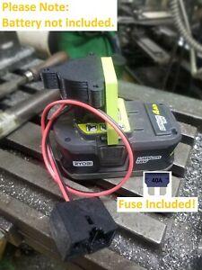 Ryobi One+ 18V Li-ion Fused Plug-&-Play Power Wheels Converter Battery Adapter