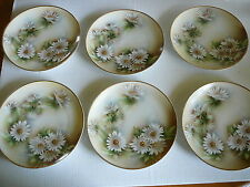 Weimar Hand painted China Set (6) Small Plates Desert Salad Signed