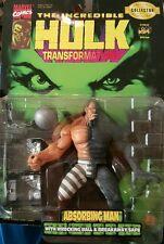 "Toy Biz Marvel Comic The Incredible Hulk Transformation Absorbing Man 6"" In BNIP"