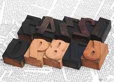 0-9 Zahlen 45 mm Holzlettern Lettern Holzzahlen Vintage shabby chic letterpress