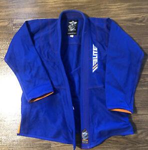 Boys Blue Elite Sports Jiu Jitsu Martial Arts Uniform Top Only