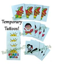 16 pc Temporary Tattoos ~ Ryans Birthday Goody Bag World Party Favors, Supplies