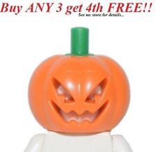☀️NEW Lego Minifig Pumpkin Head Halloween w/ green stem minifigure