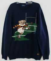 Polo Ralph Lauren Big & Tall Mens Football Rugby Polo Bear Sweater NWT Size 2XLT