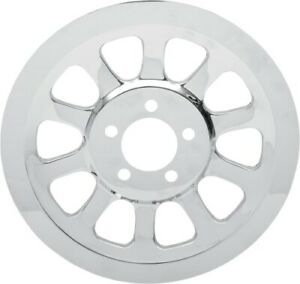 Drag Specialties Chrome Outer Rear Pulley Insert Harley 2007-2014 FXD FXDWG Dyna