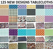 WIPE CLEAN PVC TABLECLOTH WIPEABLE VINYL  OILCLOTH RECTANGLE TABLE COVER