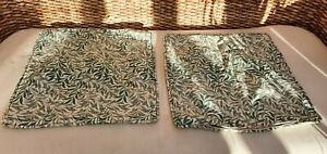 "TWO WILLIAM MORRIS WILLOW BOUGH MINOR CUSHION COVERS 15"" X 15"""