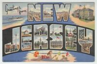 [67064] 1943 LARGE LETTER POSTCARD GREETINGS from NEW JERSEY