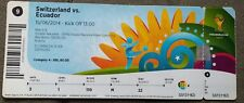 Eintrittskarte/Ticket #9 Schweiz - Ecuador, WM2014